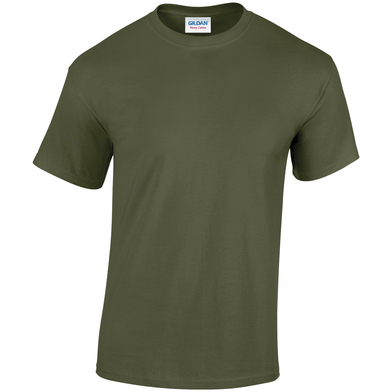 Heavy Cotton Adult T-shirt In Military Green