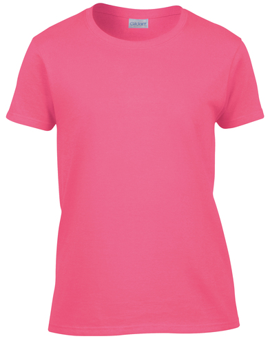 Heavy Cotton Women's T-shirt In Safety Pink
