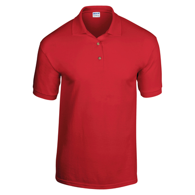 DryBlend Jersey Knit Polo In Red