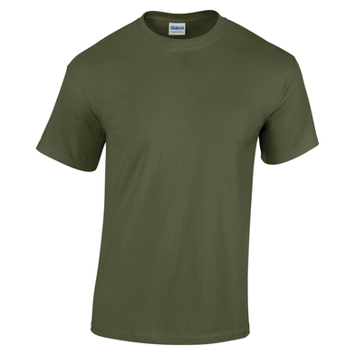 Heavy Cotton Youth T-shirt In Military Green
