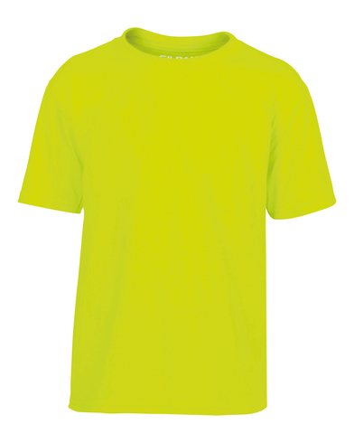 Gildan Performance Youth T-shirt In Safety Green