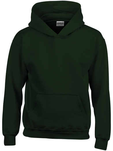 Heavy Blend Youth Hooded Sweatshirt In Forest