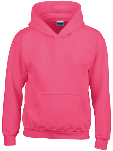 Heavy Blend Youth Hooded Sweatshirt In Heliconia