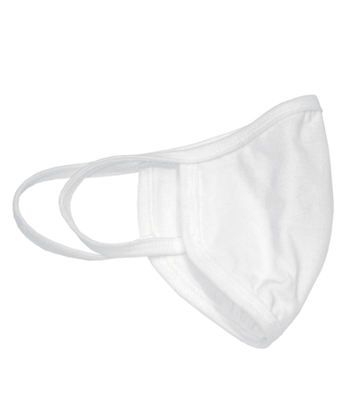 Gildan Youth Everyday 2-ply Mask (pack Of 24) In White/White