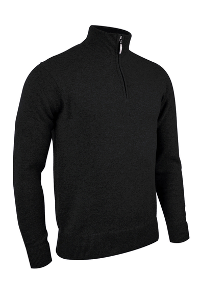 G.Coll Zip Neck Lambswool Sweater (MKL7282ZN-G.COLL) In Black