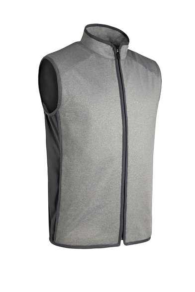 G.Shiel Performance Gilet In Light Grey Marl/Charcoal