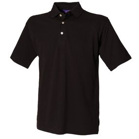 Classic cotton piqu polo with stand-up collar