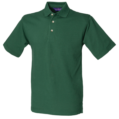 Classic Cotton Piqu Polo With Stand-up Collar In Bottle