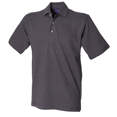Classic Cotton Piqu Polo With Stand-up Collar In Charcoal