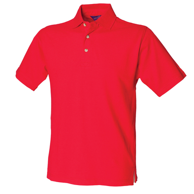 Classic Cotton Piqu Polo With Stand-up Collar In Classic Red