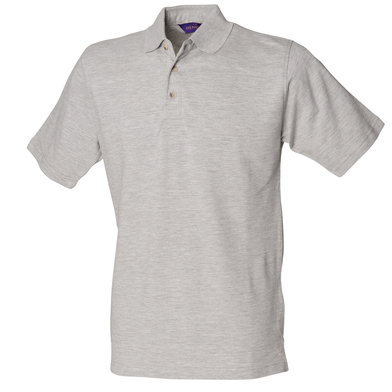 Classic Cotton Piqu Polo With Stand-up Collar In Heather Grey