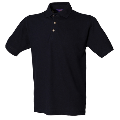 Classic Cotton Piqu Polo With Stand-up Collar In Navy