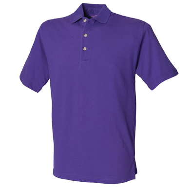 Classic Cotton Piqu Polo With Stand-up Collar In Purple