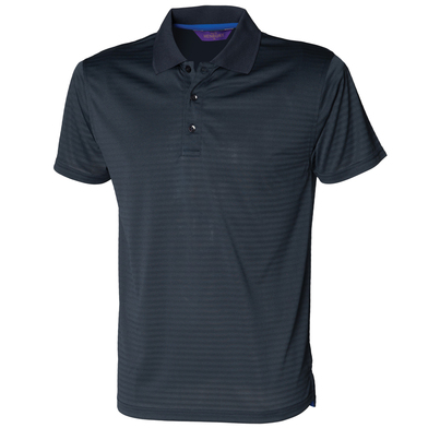 Cooltouch Textured Stripe Polo In Bright Navy