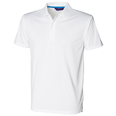 Cooltouch Textured Stripe Polo In White