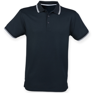 Double Tipped Coolplus Polo Shirt In Navy/White