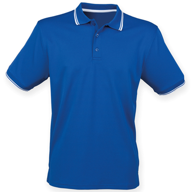 Double Tipped Coolplus Polo Shirt In Royal/White
