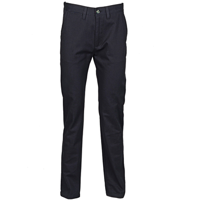 65/35 Flat Fronted Chino Trousers In Navy