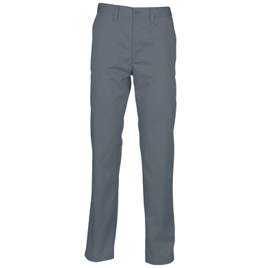 65/35 Flat Fronted Chino Trousers In Steel Grey