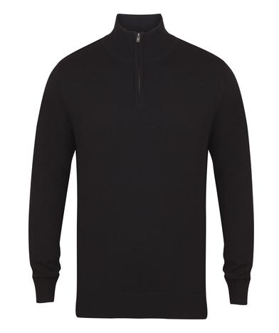 _ Zip Jumper In Black