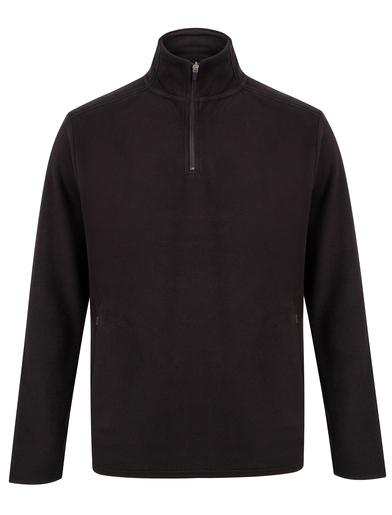 _ Zip Microfleece Jacket In Black
