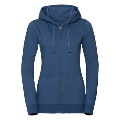 Russell Europe - Women's Authentic Melange Zipped Hood Sweatshirt