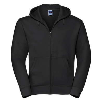 Authentic Zipped Hooded Sweat In Black