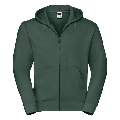 Authentic Zipped Hooded Sweat In Bottle Green