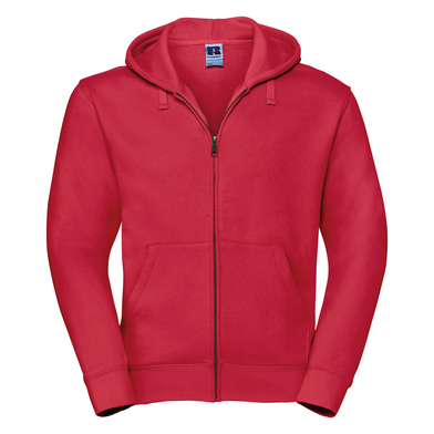 Authentic Zipped Hooded Sweat In Classic Red