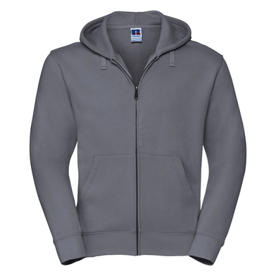 Authentic Zipped Hooded Sweat In Convoy Grey