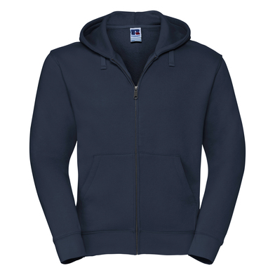 Authentic Zipped Hooded Sweat In French Navy