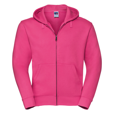 Authentic Zipped Hooded Sweat In Fuchsia