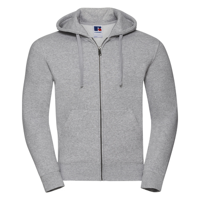 Authentic Zipped Hooded Sweat In Light Oxford