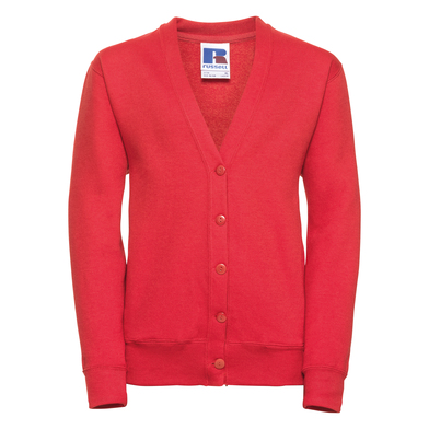 Kids Cardigan In Bright Red