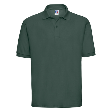 Classic Polycotton Polo In Bottle Green