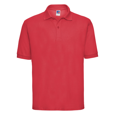 Classic Polycotton Polo In Bright Red