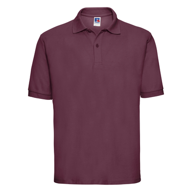 Classic Polycotton Polo In Burgundy