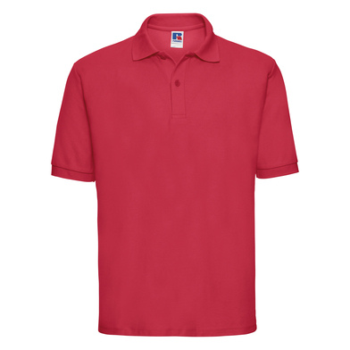 Classic Polycotton Polo In Classic Red