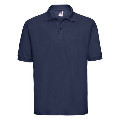 Classic Polycotton Polo In French Navy
