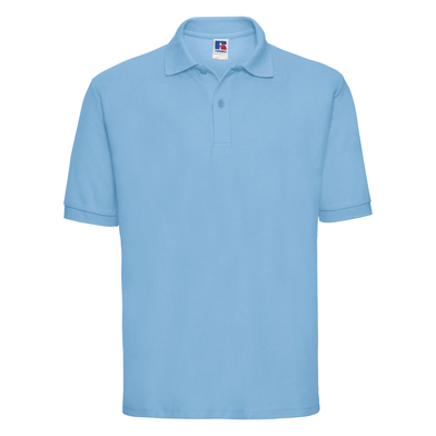 Classic Polycotton Polo In Sky