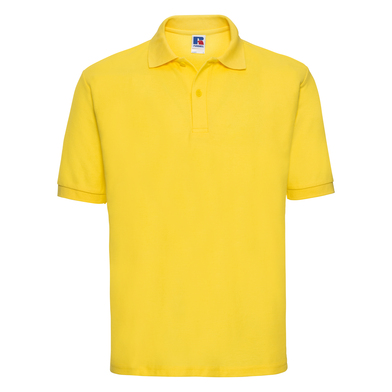 Classic Polycotton Polo In Yellow