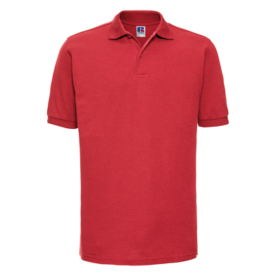 Hard-wearing 60C Wash Polo In Bright Red