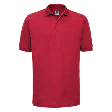 Hard-wearing 60C Wash Polo In Classic Red