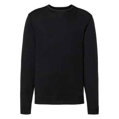 Crew Neck Knitted Pullover In Black