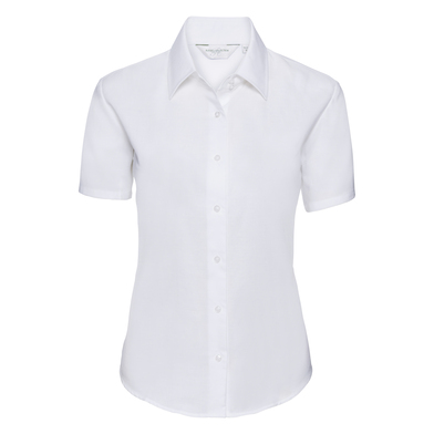 Russell Collection - Women's Short Sleeve Oxford Shirt