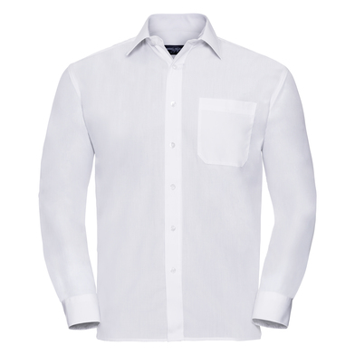 Russell Collection - Long Sleeve Polycotton Easycare Poplin Shirt
