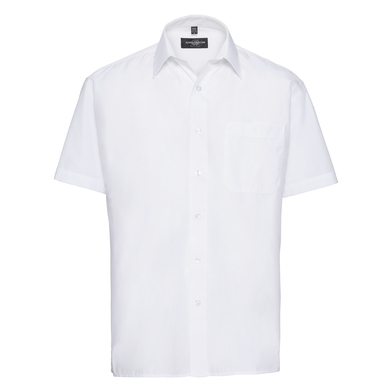 Russell Collection - Short Sleeve Polycotton Easycare Poplin Shirt