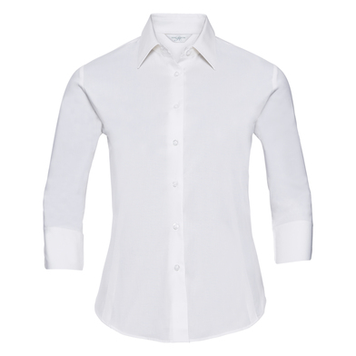 Russell Collection - Women's  Sleeve Easycare Fitted Shirt