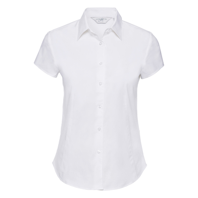 Russell Collection - Women's Short Sleeve Easycare Fitted Stretch Shirt