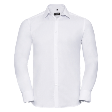 Russell Collection - Long Sleeve Herringbone Shirt